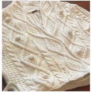 Free People Sweaters - Free People Chunk Knit Short Sleeve Wrap Sweater